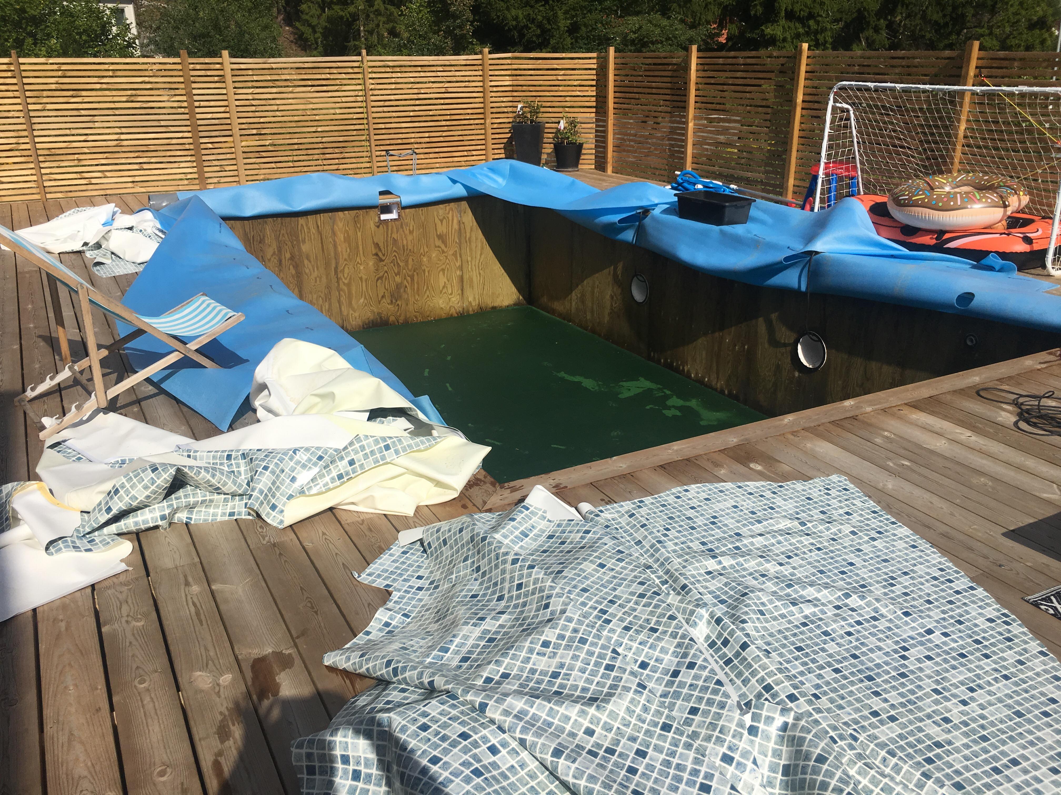 matta att lägga under pool